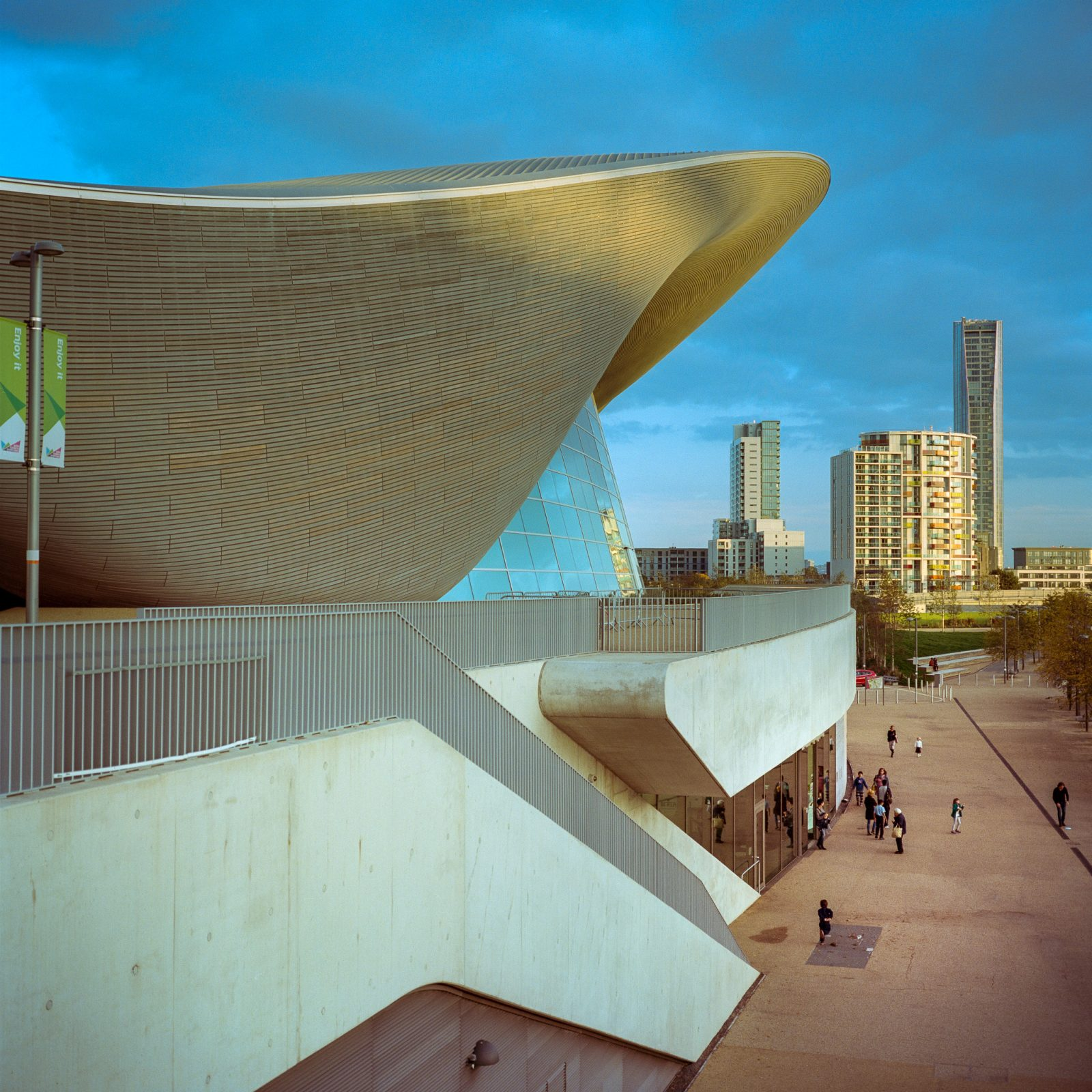 London Aquatic Centre, QEOP